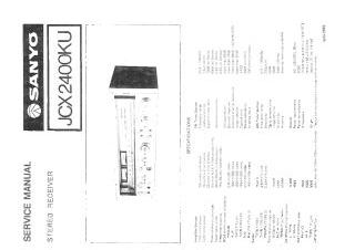 Schematics, Service manual or circuit diagram for Sanyo