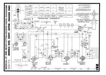 Schematics, Service manual or circuit diagram for Zenith