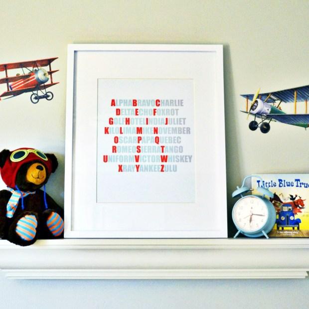 Pilot Alphabet - Free Printable