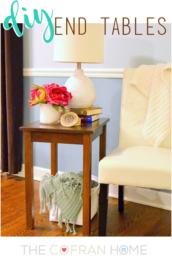 DIY End Tables with text
