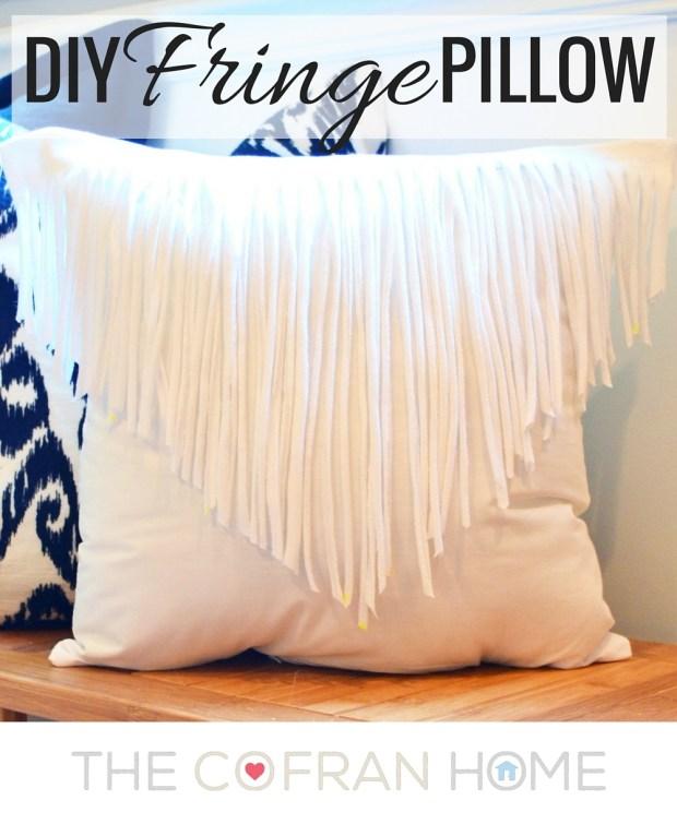DIY Fringe Pillow