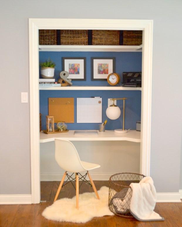 """Closet Ideas Small Decorating: """"Closet Desk"""" Makeover"""