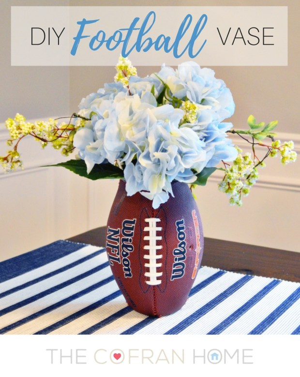 diy-football-flower-vase