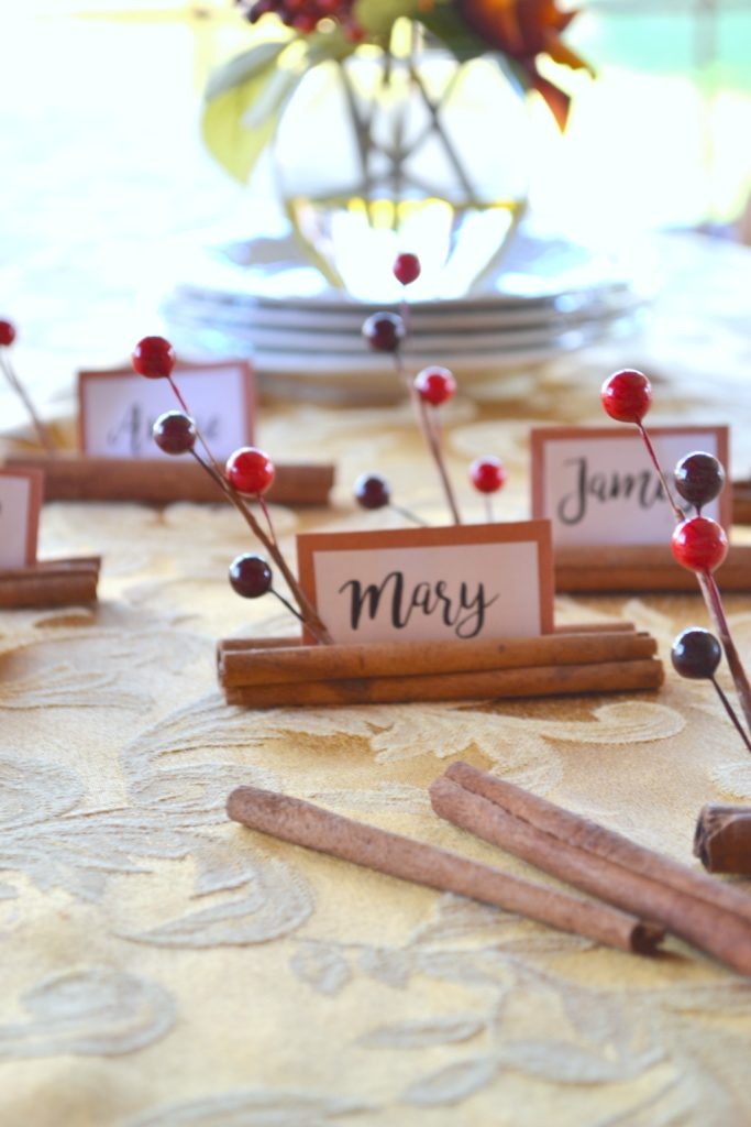 Cinnamon Stick Place Cards The Cofran Home