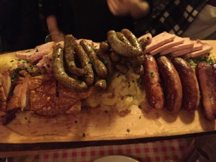 The incredibly German meat and potatoes dinner we had on Friday night