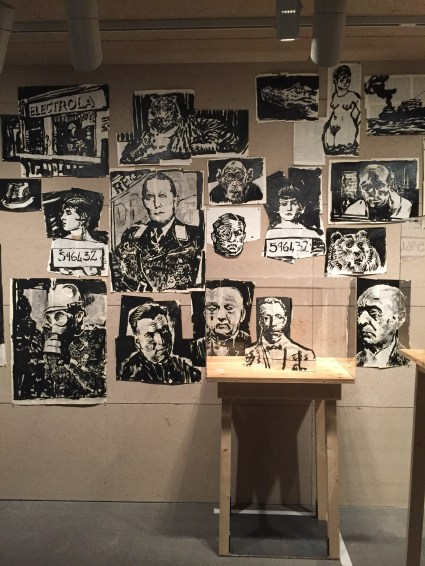 Charcoal drawings from the William Kentridge exhibit