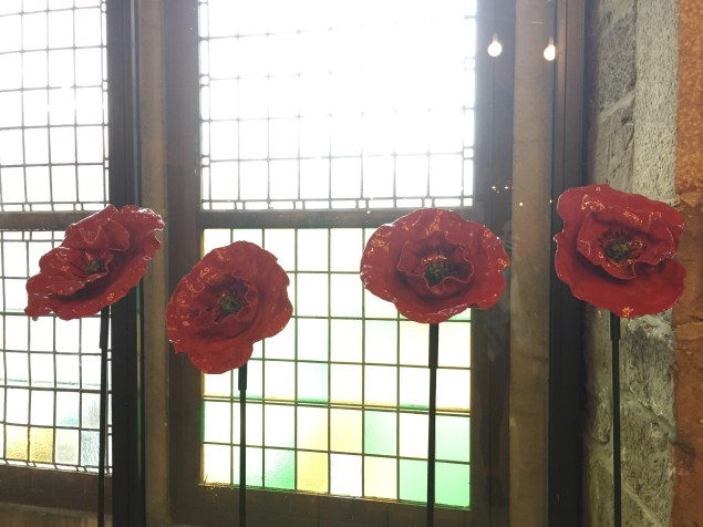 Poppies have become one of the most recognizable symbols of WWI which is why there were so many at the museum we visited