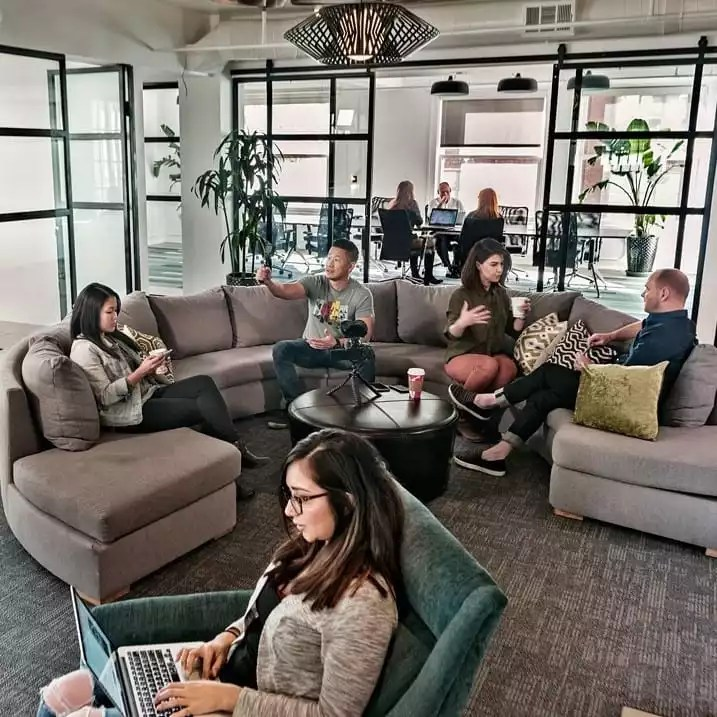 People Working in Los Angeles Office Rental - The Collection