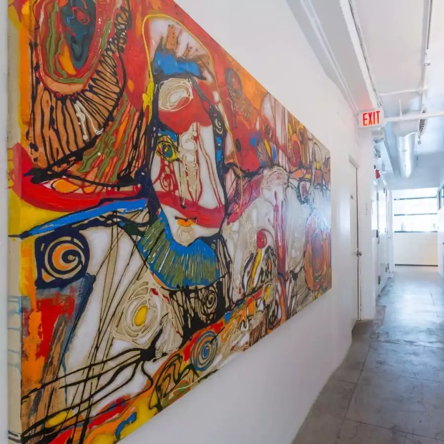 Beautiful Mural in Our Shared Office Space - The Collection