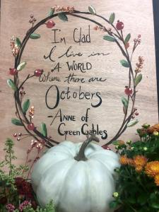Fall quote boards at  The Collective lhe +Makery in Lisle,IL