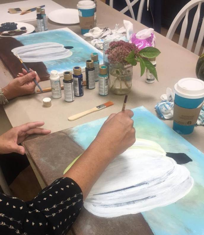 Paint acrylic art classes