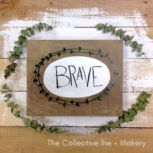 Paint your word wood board The Collective lhe + Makery