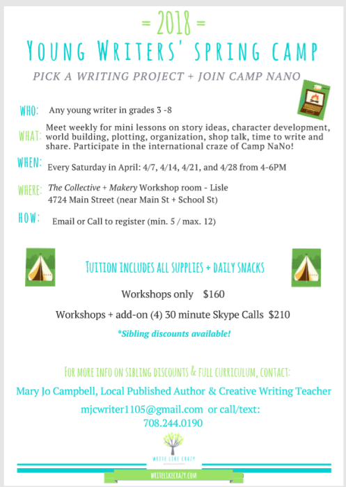 Young writers camp at The Collective lhe + Makery