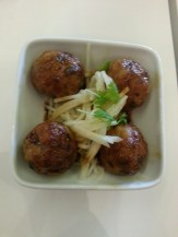 "Chicken ""meatballs"" - savory and perfectly seasoned."