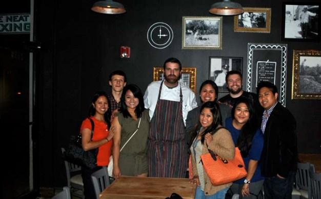 Chef Alberto Cabrera with The Collective Plate crew.