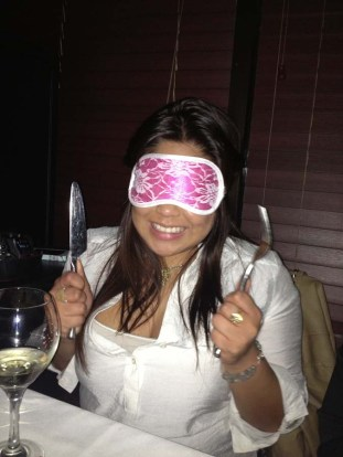 Wearing the blindfold heightened my sense of taste, I appreciated all the different flavors, textures, and aromas from all of Chef Adrienne's dishes. -Honey