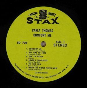 Carla Thomas Comfort Me Original US pressing
