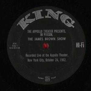 James Brown In Person! The James Brown ShowKing Original US pressing