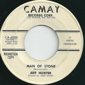 Jeff Hunter ‎– Man Of Stone / I Believe