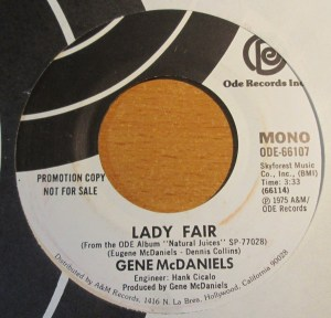 soul-GENE Mc DANIELS -lady fair