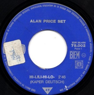 Alan Price Set- Hi-Lili, Hi-Lo