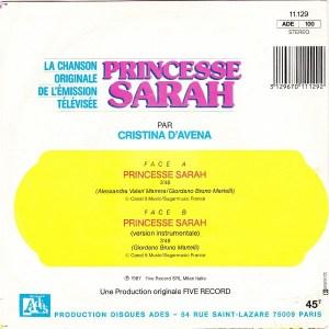 Cristina D'Avena- Princesse Sarah/ La Chanson Originale de l'Emission Télévisée