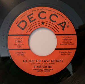 Diane Castle – Somebody Else's Baby / All For The Love Of Mike