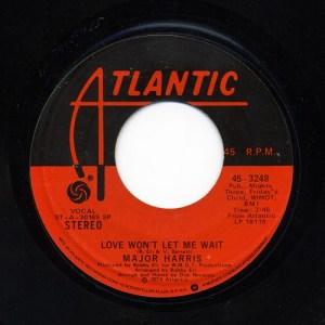 Major Harris – Love Won't Let Me Wait