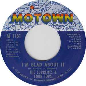 The Supremes & Four Tops ‎– I'm Glad About It