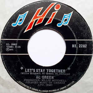 Al Green- Let's Stay Together