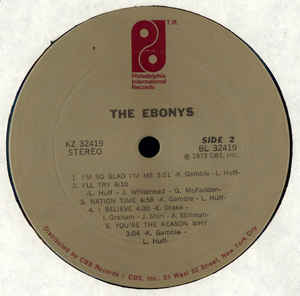 The Ebonys ‎– The Ebonys