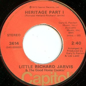 Little Richard Jarvis & The Good Home Cookin'- Heritage Part 1