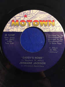 Jermaine Jackson ‎– Daddy's Home / Take Me In Your Arms (Rock Me For A Little While)