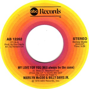 Marilyn McCoo & Billy Davis Jr- Your Love/ My Love For You (Will Always Be The Same)