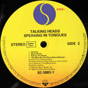 Talking Heads- Speaking In Tongues