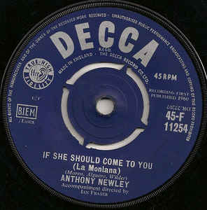 Anthony Newley- If She Should Come To You ( La Montana)