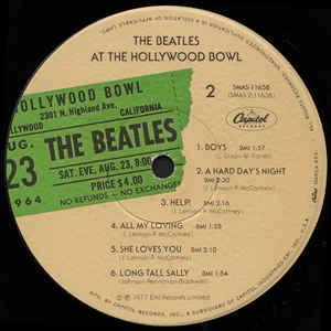 Beatles- The Beatles At The Hollywood Bowl