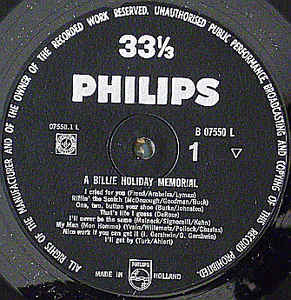 Billie Holiday- A Billy Holiday Memorial