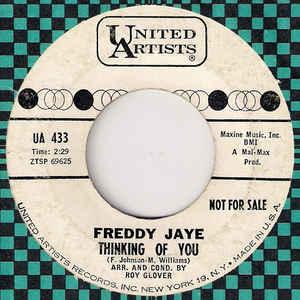 Freddy Jaye- I Need Somebody's Love/ Thinking Of You