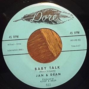 Jan & Dean- Baby Talk/ Jeannette, Get Your Hair Done