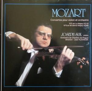 Mozart, Joseph Suk, Orchestre De Chambre De Prague, Libor Hlavacek- Concertos Pour Violon Et Orchestre