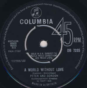 Peter And Gordon- A World Without Love