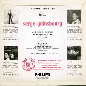 Serge Gainsbourg- L' Étonnant Serge Gainsbourg