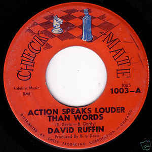 David Ruffin- Action Speaks Louder Than Words