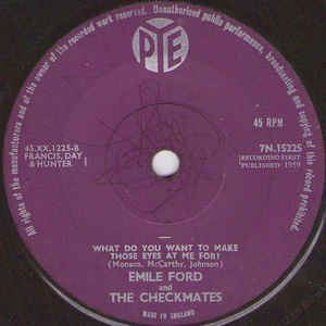 Emile Ford And The Checkmates- Don't Tell Me Your Troubles