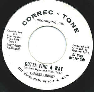 Teresa Lindsey- Gotta Find A Way
