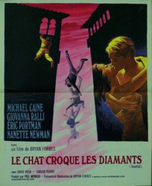 AFFICHE ORIGINALE-LE CHAT CROQUE LES DIAMANTS