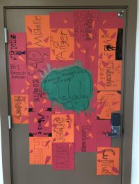 Middle School Door Decoration Competition  The Collegian