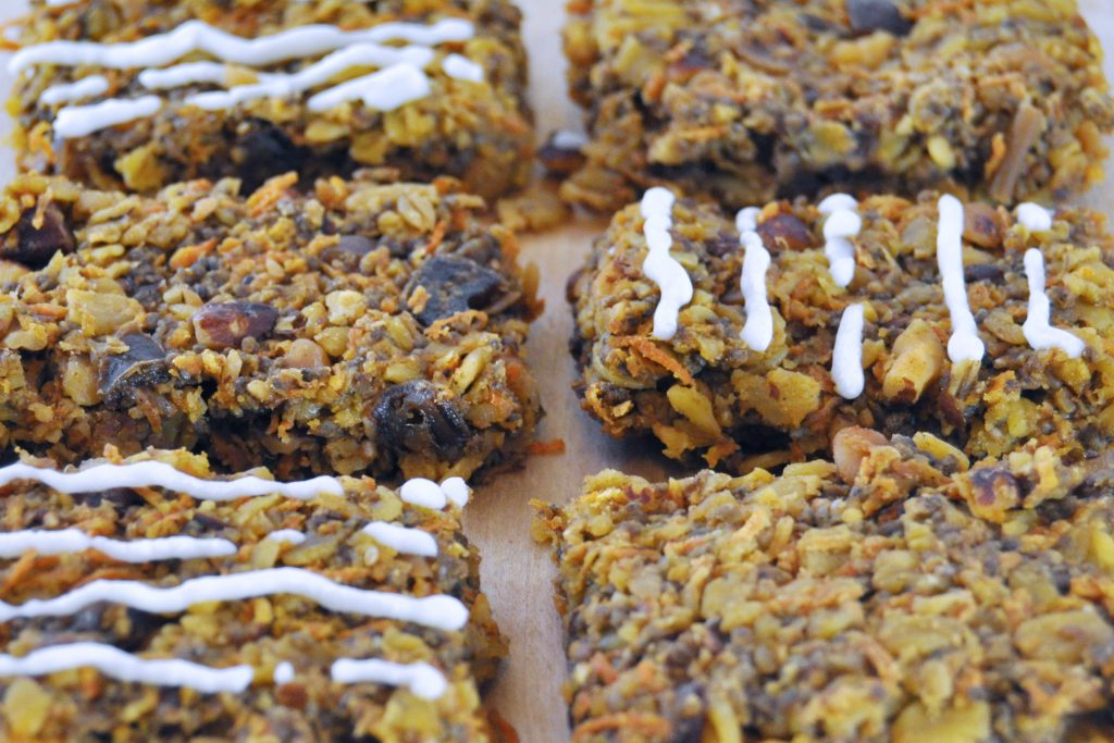 Vegan Gluten Free Travel Carrot Cake Oatmeal Bars The