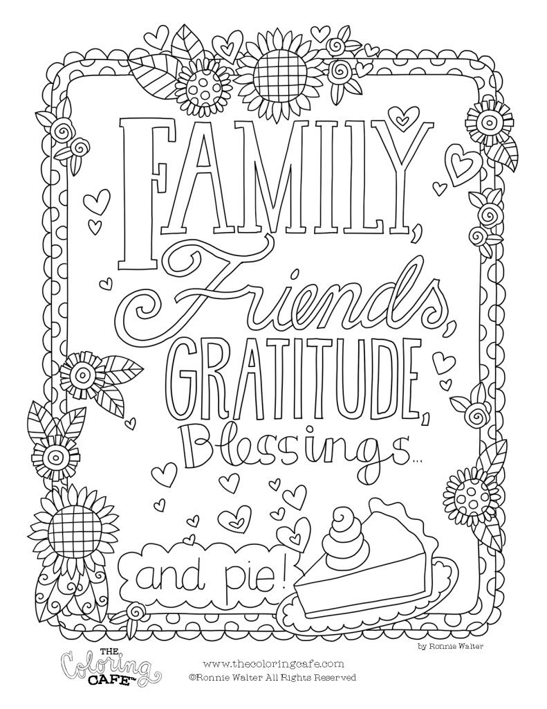 Free Coloring Pages - The Coloring Cafe